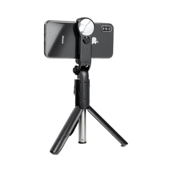 Trepied Selfie Stick cu telecomandă fara fir Bluetooth, Stick Selfie extensibil 3 în 1 cu suport trepied pentru iPhone, Samsung, Huawei, OPPO