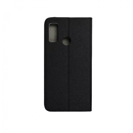 Husa tip carte SENSITIVE compatibila cu Samsung Galaxy A21s, inchidere magenetica, Negru