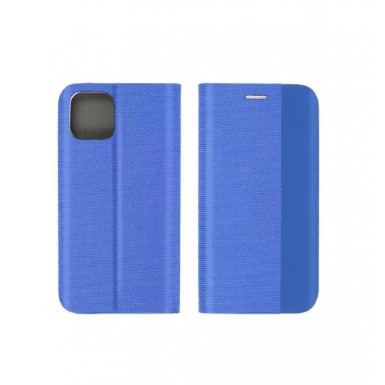 Husa tip carte SENSITIVE compatibila cu Samsung Galaxy A21s, inchidere magenetica, Albastru