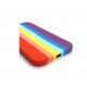 Husa silicon soft-touch compatibila cu Apple IPhone 12, Curcubeu