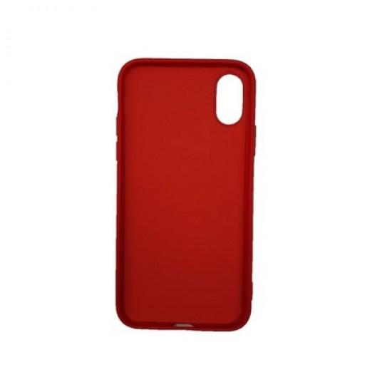 Husa silicon soft-touch compatibila cu Apple IPhone Xr, Rosu