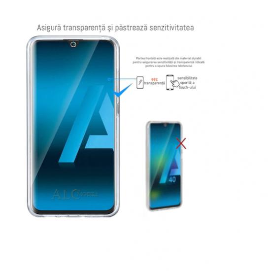 Husa 360 compatibila cu Huawei P smart 2021 V2 Transparent fata+spate