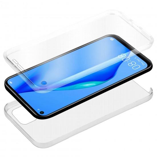 Husa fata+spate compatibila cu Samsung Galaxy A22 4G/LTE, Transparent
