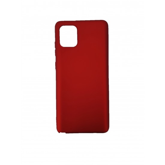 Husa compatibila cu Samsung Galaxy A02s- Silicon Slim, Rosu