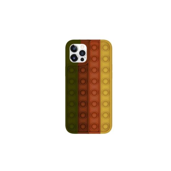 Husa de protectie POP IT compatibila cu IPhone 11 pro Max , Negru / Maro