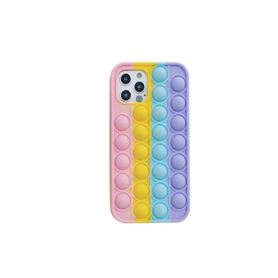 Husa de protectie POP IT compatibila cu IPhone 12 / 12 Pro , Multicolor
