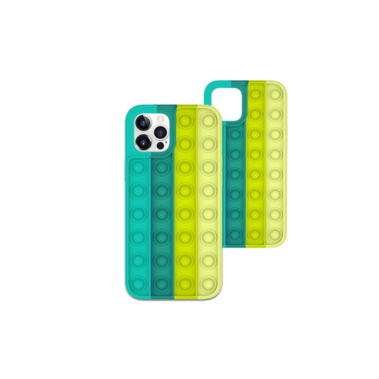 Husa de protectie POP IT compatibila cu IPhone 11 Pro Max, Verde / Galben