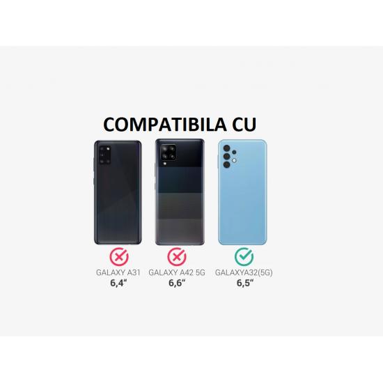 Husa 360 compatibila cu Samsung Galaxy A32 5G -  V2 Transparent fata+spate