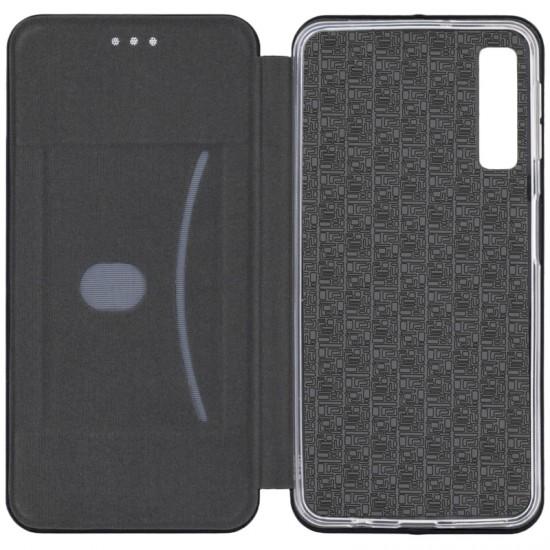 Husa Flip Cover Magnetic Pentru Samsung Galaxy A7 2018, Negru