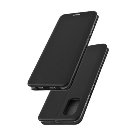 Husa Flip cover magnetic pentru Samsung Galaxy A02S, Negru