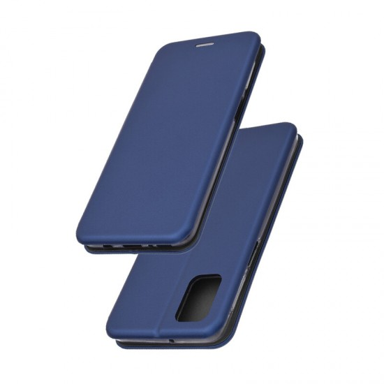 Husa Flip cover magnetic compatibila cu Samsung Galaxy A02S, Albastru