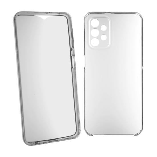 Husa 360 compatibila cu Samsung Galaxy A72 4G / 5G V2 Transparent fata+spate