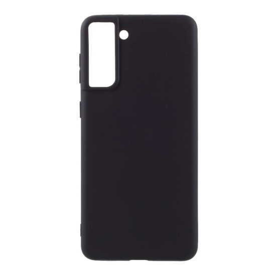 Husa compatibila cu Samsung Galaxy S21 Plus - Silicon, Negru