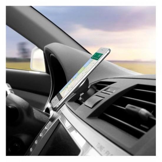 Suport de telefon auto magnetic universal cu sistem de reglare a unghiului de inclinare